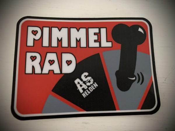 """Aufkleber/Sticker """"PIMMELRAD"""" rot"""