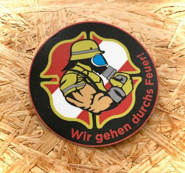 """Aufkleber/Sticker """"Wir gehen durchs Feuer!"""" Österreich"""