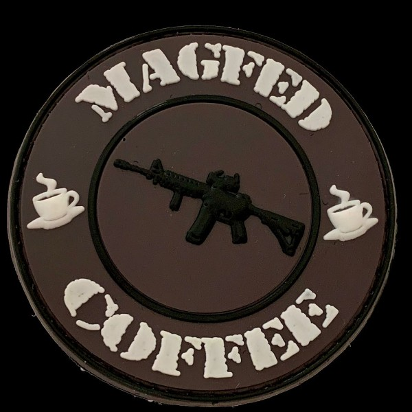 "3D Rubberpatch: ""MAGFED & COFFEE"""