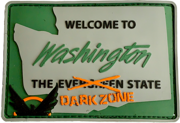 "3D Rubberpatch: ""Welcome to Washington"""