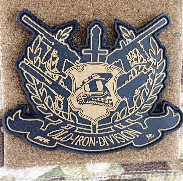 "3D Rubber Patch: ""OLD IRON DIVISION"""