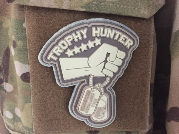 "3D Rubberpatch: ""TROPHY HUNTER"" desert storm"