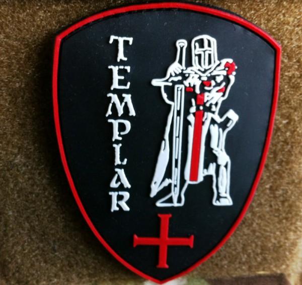 """3D Rubber MORALE PATCH: """"TEMPLAR"""""""