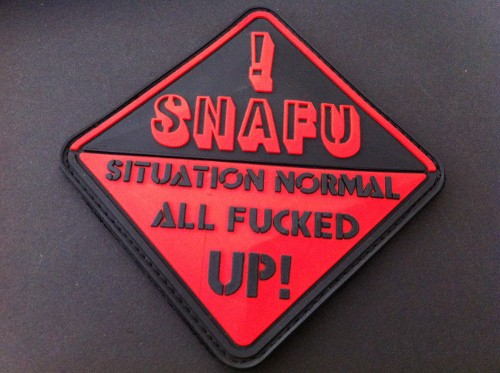 "3DRubber Patch:""SNAFU"""