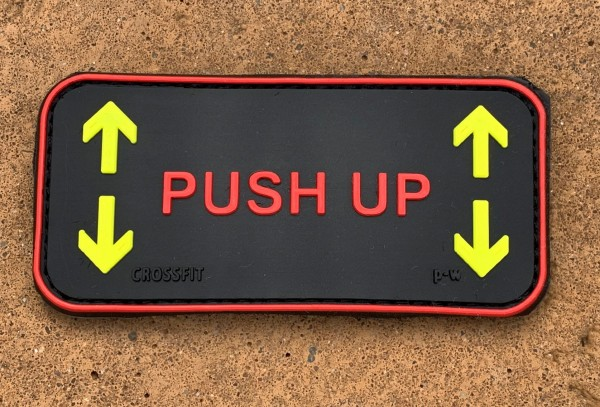 "3D Rubberpatch: ""PUSH UP"""
