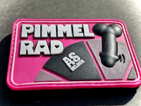 "3D Rubberpatch ""PIMMELRAD"" PINK"