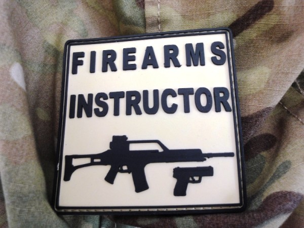 "3D Rubber Patch:""Firearms Instructor"""