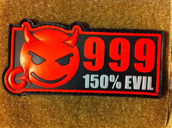 "3DRubber Patch:""999"" red"