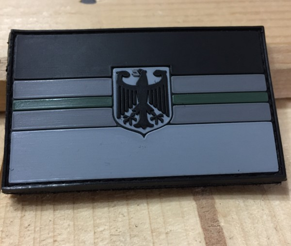 "3D Rubber MORALE PATCH:""GREEN LINE DEUTSCHLAND"""