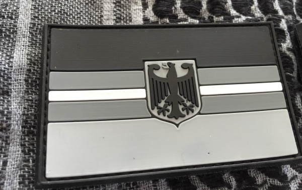 "3D Rubber MORALE PATCH: ""WHITE LINE DEUTSCHLAND"""