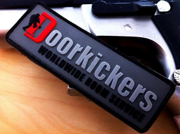 """3D Rubber MORALE PATCH:""""DOORKICKERS CREW"""" nightcamo"""