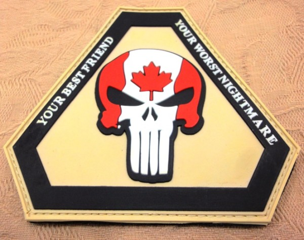 "3D Rubber Patch:""Punisher Canada"""
