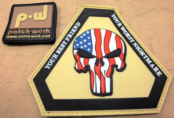 "3D Rubber Patch:""Punisher USA"""