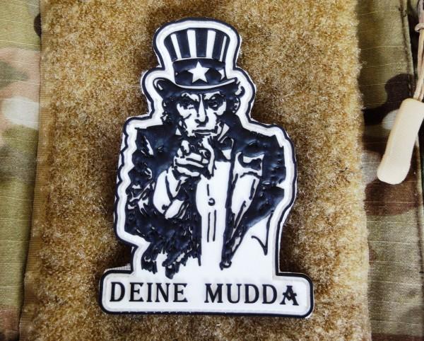 """3D Rubber Patch:""""DEINE MUDDA"""""""