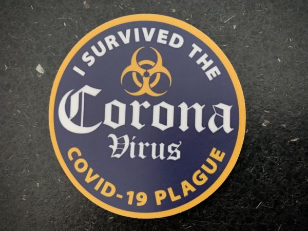 "Aufkleber/Sticker ""I survived the Corona Virus"""