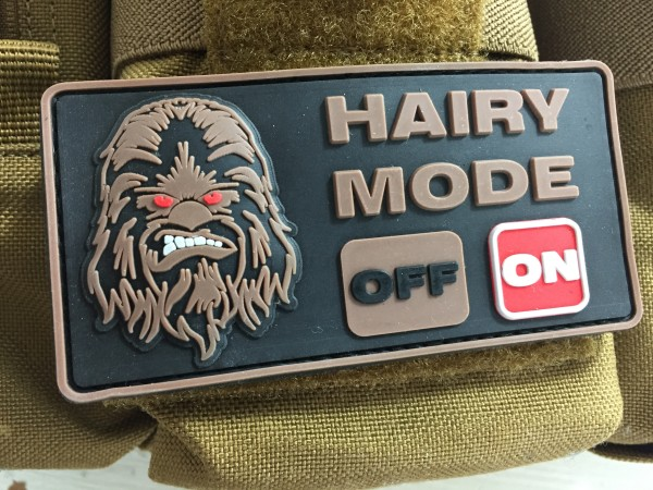 "3D Rubberpatch: ""HAIRY MODE: ON"""