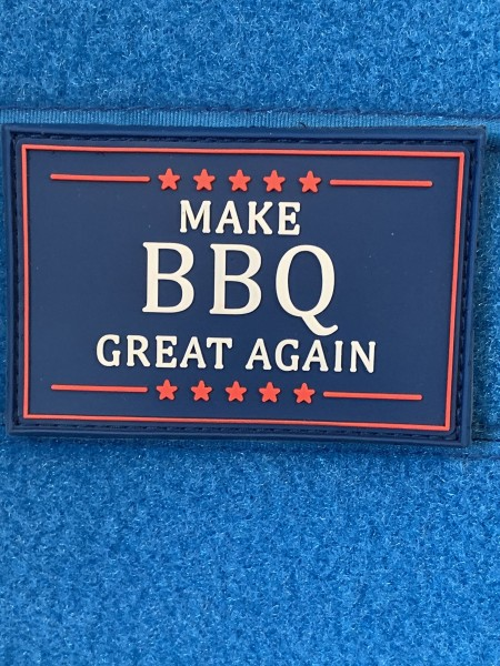 "3D Rubberpatch: ""MAKE BBQ GREAT AGAIN"""