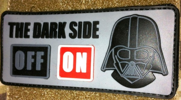 "3D Rubberpatch: ""THE DARK SIDE"""