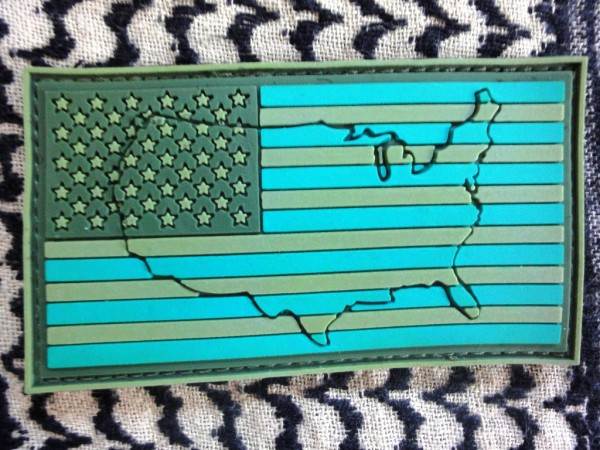 "3DRubber Patch:""USA"" left arm JUNGLE"