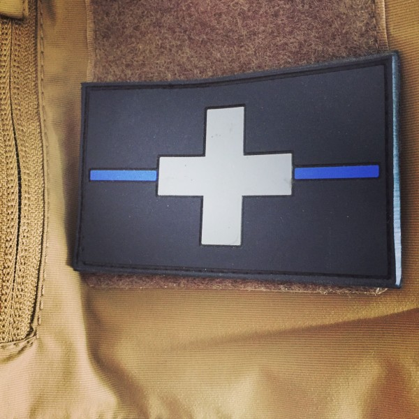 "3D Rubber MORALE PATCH: ""SWITZERLAND BLUE LINE"""