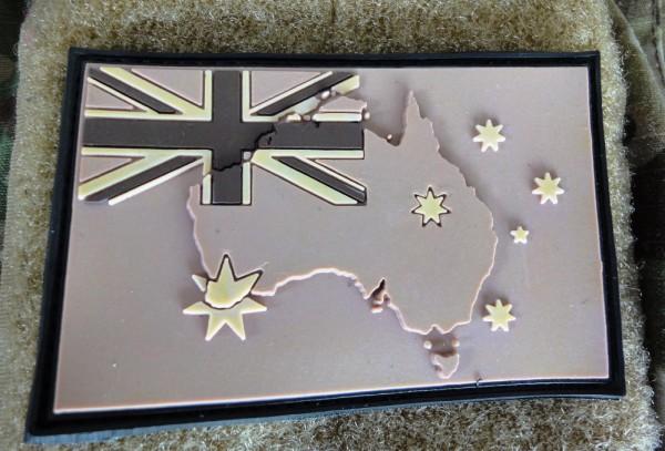 "3DRubber Patch:""AUSTRALIA"" Desert camo"